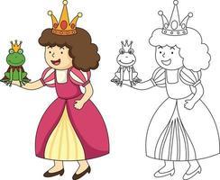 ilustração de jogo educativo para crianças e vetor de livro de colorir