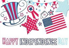 Feliz Dia da Independência Wallpaper e Vector Pack