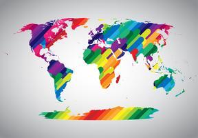 Símbolo do mundo abstrato colorido vetor