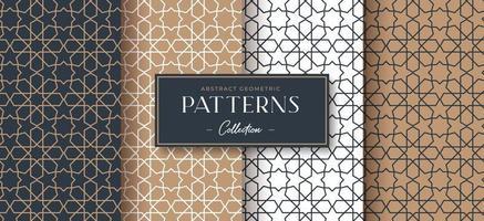 coleção de padrão geométrico de luxo abstrato vetor