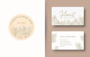 design de logotipo floral de beleza vetor