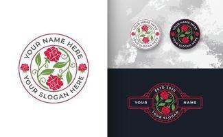 logotipo abstrato da rosa vetor