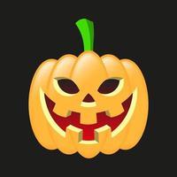 abóbora de halloween sorrindo vetor