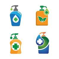 ilustração de imagens de logotipo para lavagem de mãos vetor