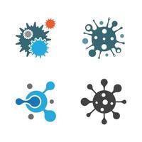 ilustração de imagens de logotipo de vírus vetor