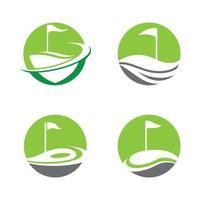 ícone de vetor de logotipo de golfe