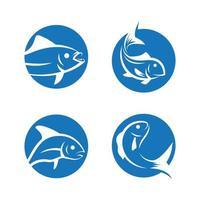 ilustração das imagens do logotipo do peixe vetor