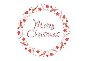ilustração em vetor fundo cartão feliz natal