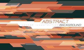 abstrato laranja cinza geométrico criativo em branco vetor