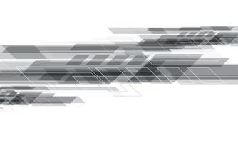 abstrato cinzento geométrico design criativo em branco vetor