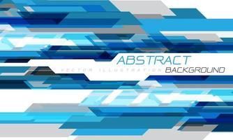 abstrato azul cinza geométrico criativo na tecnologia futurista branca vetor