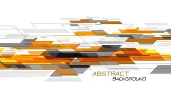abstrato laranja cinza velocidade geométrica criativa dinâmica em branco vetor