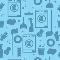 silhueta de ferramentas de trabalho doméstico, padrão uniforme vetor