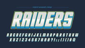 cromo itálico e tipografia futurista azul vetor