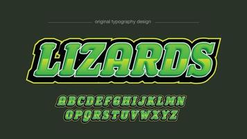 tipografia futurista metálica verde vetor