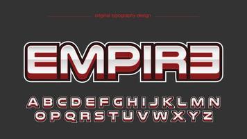 tipografia esportiva vermelha moderna vetor