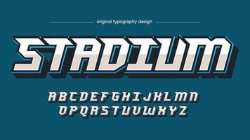tipografia de jogos esportivos futuristas modernos vetor
