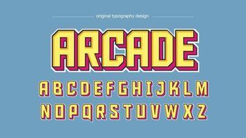 tipografia de jogos amarela e rosa vetor