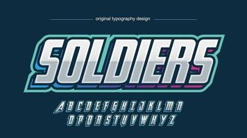 tipografia esportiva metálica itálica moderna vetor