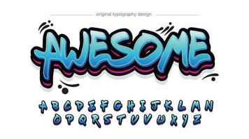 tipografia grafite em negrito azul e vermelho vetor