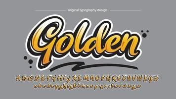 tipografia de grafite cursiva moderna amarela vetor