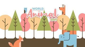 vetor de ilustração de fundo do dia animal do mundo
