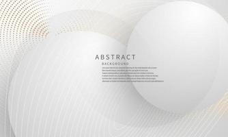 abstrato moderno círculo artes fundo luxo branco ouro moderno vetor