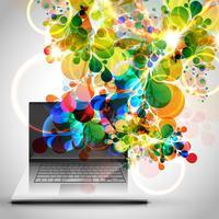 Ilustração em vetor design portátil colorido