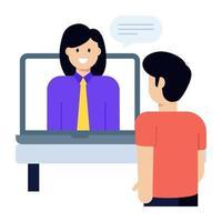 discussão e conversa vetor