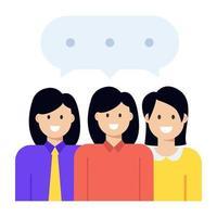 reunião de escritório e discussão vetor