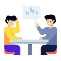 brainstorming e discussão com colegas vetor