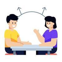 discussão e transferência de comunicação vetor