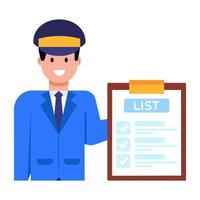 lista de inventário e oficial vetor