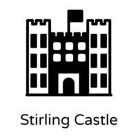 forte do castelo de Stirling vetor