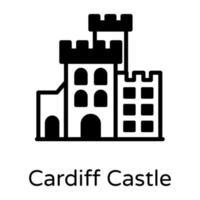 marco do castelo de cardiff vetor