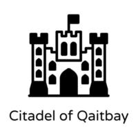 cidadela de qaitbay vetor