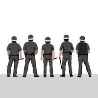 ilustração vetorial linha policial vetor