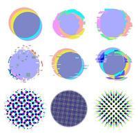 distorção de ruído de falha e fundos de textura de meio-tom definidos vetor