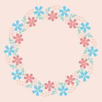 quadro de flores coloridas de vetor para cartão de felicitações, convite ou foto.