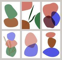 um conjunto de fundos com fundos geométricos abstratos. vetor