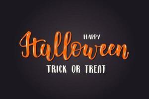cartão de letras de halloween - feliz dia das bruxas. doçura ou travessura vetor