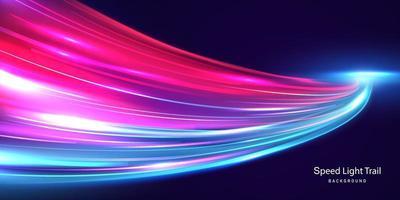 cartaz de fundo de linha de velocidade abstrata com dinâmica. rede de tecnologia vetor