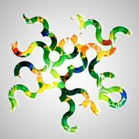 Modelo colorido para publicidade, ilustração vetorial
