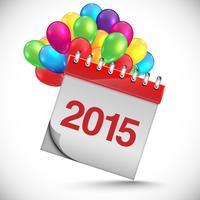Calendário para o ano novo, vetor