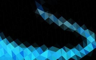 modelo de mosaico de triângulo de vetor de azul escuro.