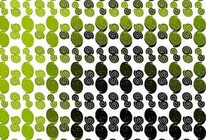 de fundo vector verde e amarelo claro com formas de lâmpada.