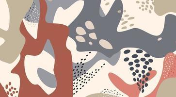 padrão artístico geométrico abstrato textura de forma fluida orgânica vetor