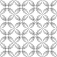 teste padrão floral sem emenda abstrato. ornamento de flor fractal árabe vetor