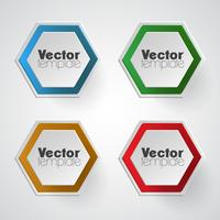 Conjunto de modelo de vetor colorido