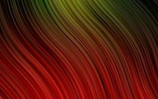 modelo de vetor verde escuro e vermelho com formas de bolha.